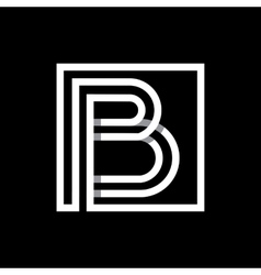 Capital letter b  monogram logo emblem vector