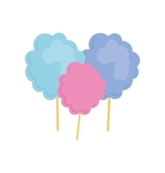 Sugar food design cotton candy icon sweet vector