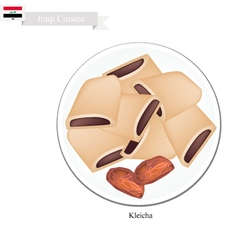 Kleicha or traditional iraqi cookies vector