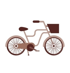 Retro bicycle isolated icon design vector