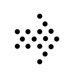 Dots right arrow icon simple style vector