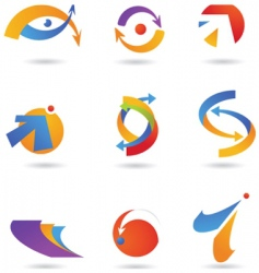 abstract icons and logos vector image vector image