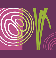 Abstract vegetable design with onions vector