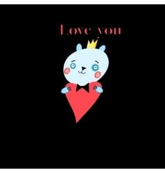 Bear in love vector