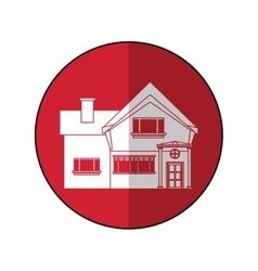 Beautiful home chimney window shadow vector