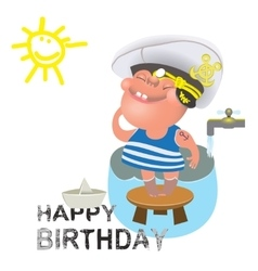 Birthday greetings for a sailor vector image vector image