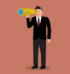 Businessman search in business strategy vector