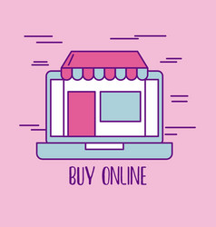 buy online laptop store commerce market virtual vector image