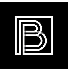 Capital letter B Monogram logo emblem vector image vector image