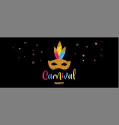 Carnival banner with glitter mask festival vector