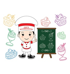chef menu vector image vector image