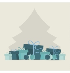 Christmas presents vector image vector image