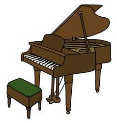 Classic grand piano vector
