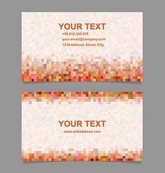 Colorful digital art mosaic business card design vector
