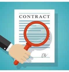 Contract inspection concept vector