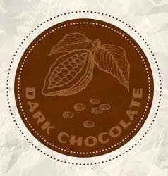 dark chocolate vintage paper vector image vector image
