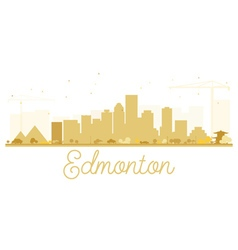 Edmonton city skyline golden silhouette vector