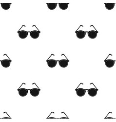 Glasses for sightold age single icon in black vector