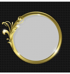 Gold round frame vector