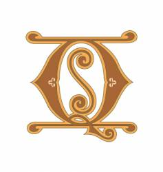 golden letter q vector image