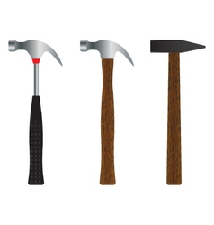 Hammer Different versions vector image vector image