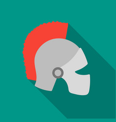 Helmet icon in flate style isolated on white vector