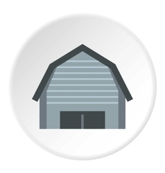 High garage icon flat style vector