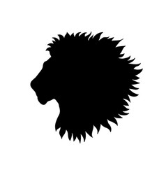 Lion head african animal lion profile isolated vector