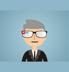 men in smart glasses vector image vector image