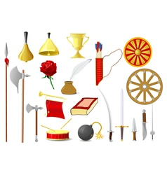 old objects vector image vector image