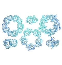 Ornate frames and scroll elements vector image