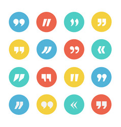 quotes icon set vector image vector image