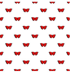 Sangaris butterfly pattern seamless vector