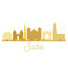 Sucre city skyline golden silhouette vector
