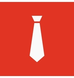 The tie icon Necktie and fashion dress code vector image