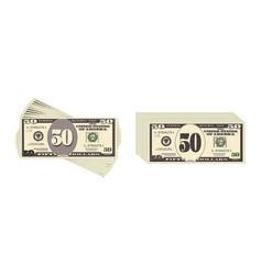 Usa banking currency cash symbol 50 dollars bill vector