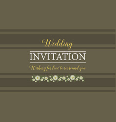 Wedding invitation style graphic collection vector