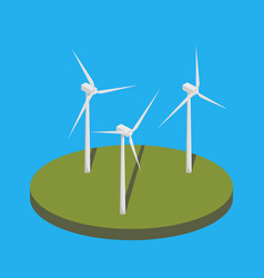 wind power station isometric vector image vector image