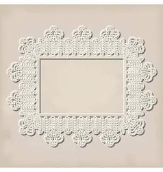crochet doily vector image