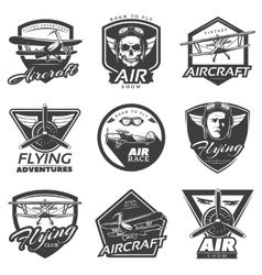 Vintage Aircraft Labels Collection vector image