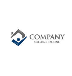 simple concept house icon right tick symbol vector image