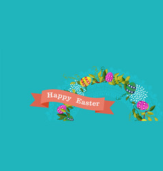 happy easter spring banner design for celebration vector image