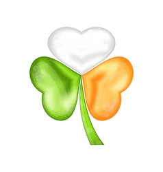 Shamrock in irish flag color for saint patrick day vector