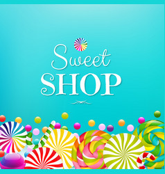Card with color lollypop border vector