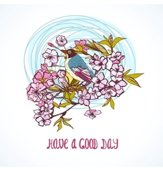 Good day wishing card vector