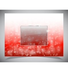 Abstract light winter backgound vector image