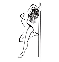 Pole dancing vector image