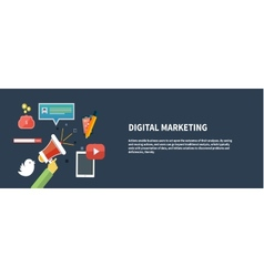 Icons for digital marketing vector