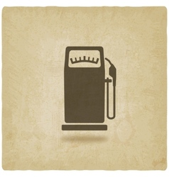 Gasoline pump old background vector