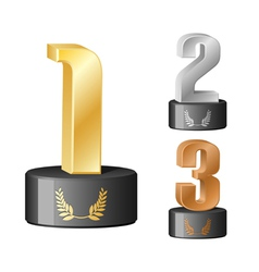 trophy numbers vector image